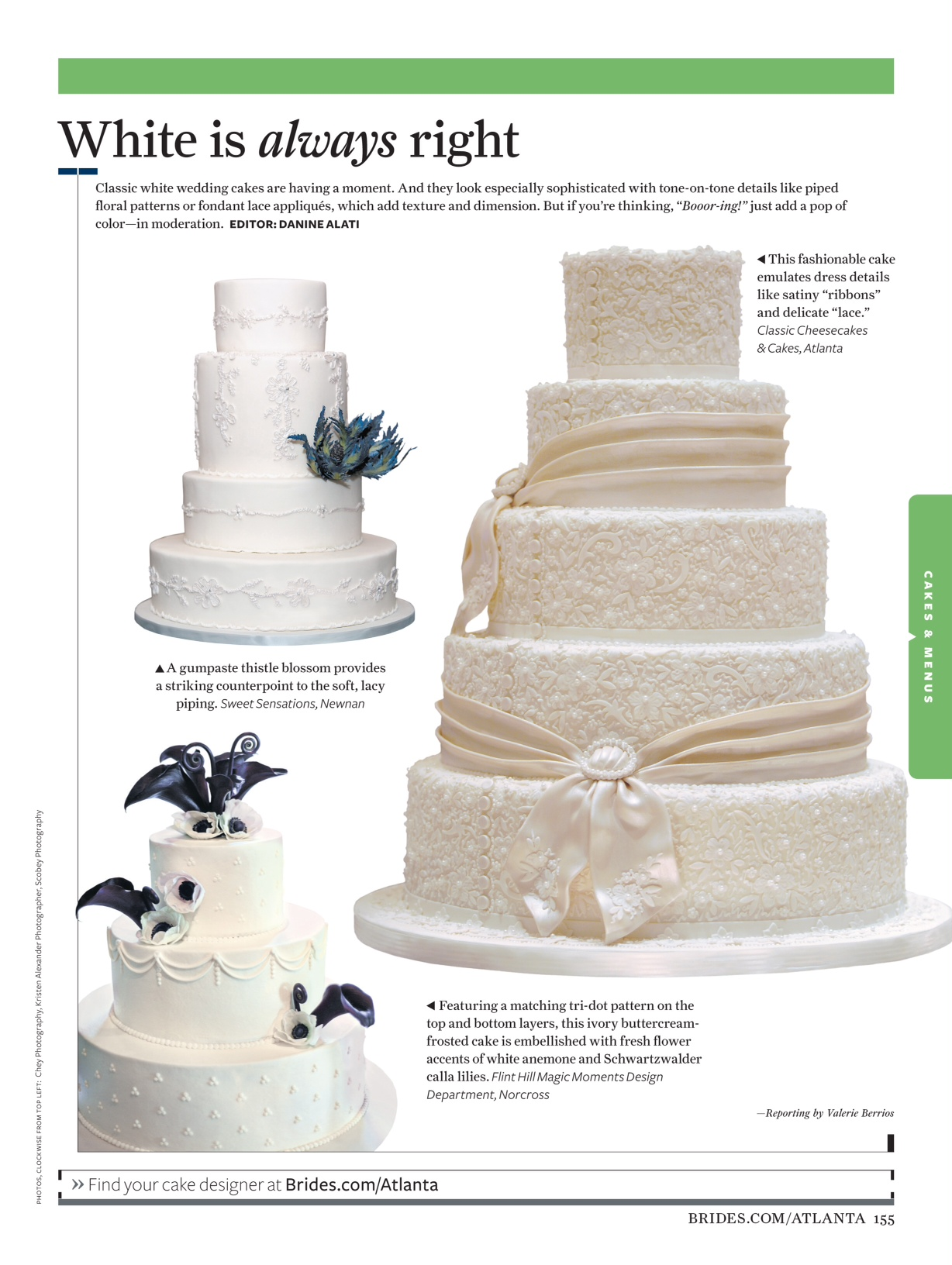 Classic Cheesecakes & Cakes Featured In Brides Magazine! | Classic ...