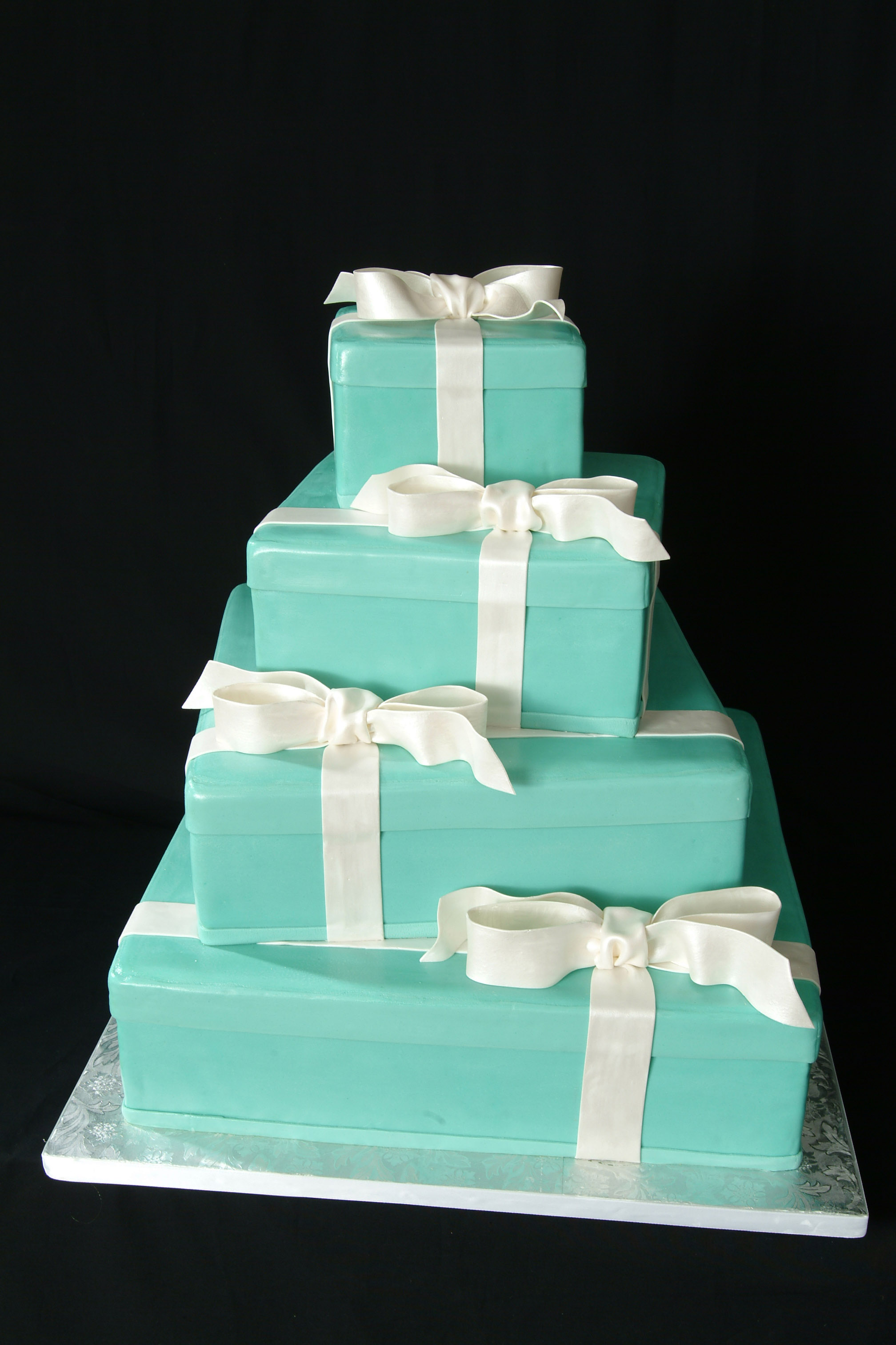 Custom Designed Tiffany Box Cake