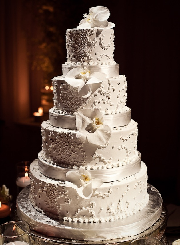 Custom Designed Wedding Cake by Classic Cheesecakes and Cakes in Atlanta, Georgia